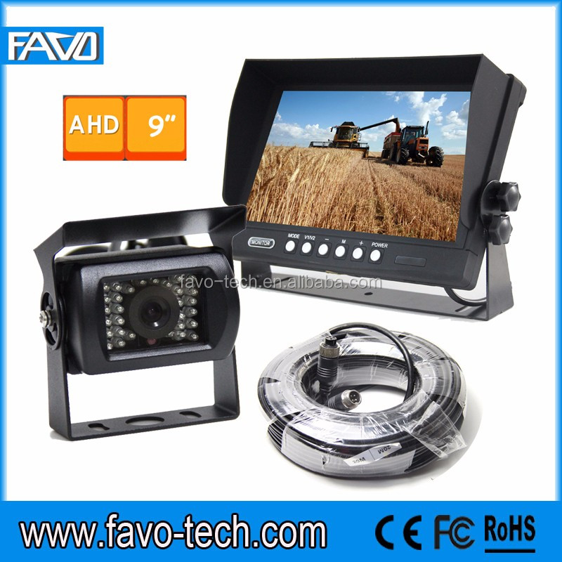 9 Inch AHD Commercial Vehicle Camera Systems For Cranes