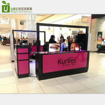 Luxury kurves brow bar eyebrow threading kiosk with beauty salon furniture design