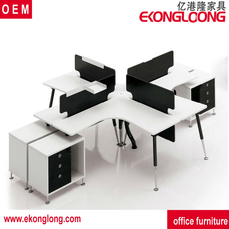 Office Table For 4 Person: 4 Person Office Workstation/china Model Train Layout
