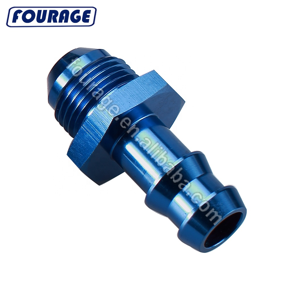 8 AN AN8 To 8mm Barb Straight Fitting Fuel Line Aluminum Alloy Blue