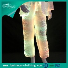 rgb color changeable new fiber optic clothing luminous hot pants for men