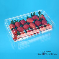 400g Disposable Strawberry plastic Container Supplier