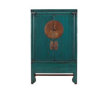 Chinese Gerecycled Vintage Meubels Verontruste Bruiloft Kast In Donkerblauw Buy Antieke Chinese Oude Geschilderd Lange Kastwoonkamer Meubels