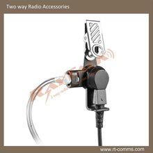 2way radio acoustic tube earpiece&clear tube ear piece with Large lapel PTT