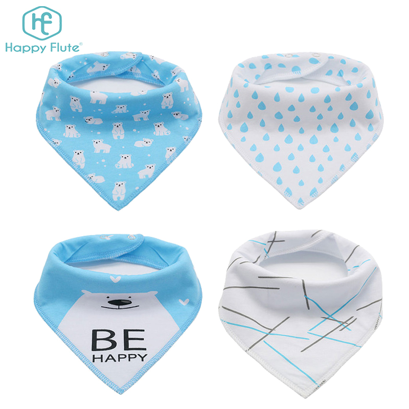 Happyflute New pattern bamboo baby bandana drool bibs wholesale