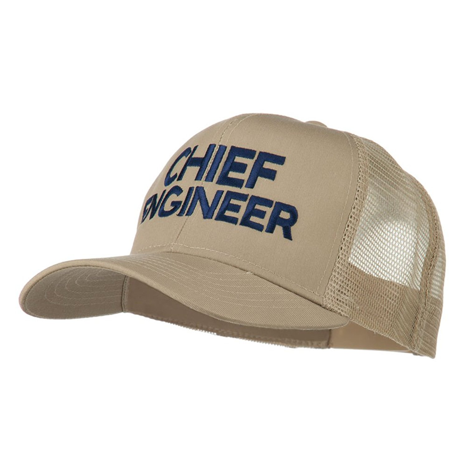 d3f2715a693 Get Quotations · Chief Engineer Embroidered Twill Mesh Cap - Khaki