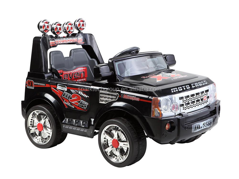 Powerful Led Light On Wheels 12v 4 Seats Ride On Toy 4