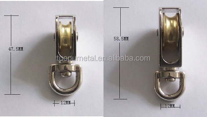 Small Stainless Steel Swivel Pulley Zinc Wire Rope Sheaves