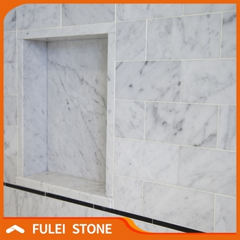 Best Quality Master Bathroom White Carrara Marble Subway Tile