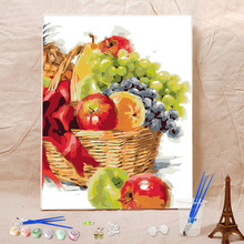Colorful fruits art painting by number , best model abstract wall hanging painting