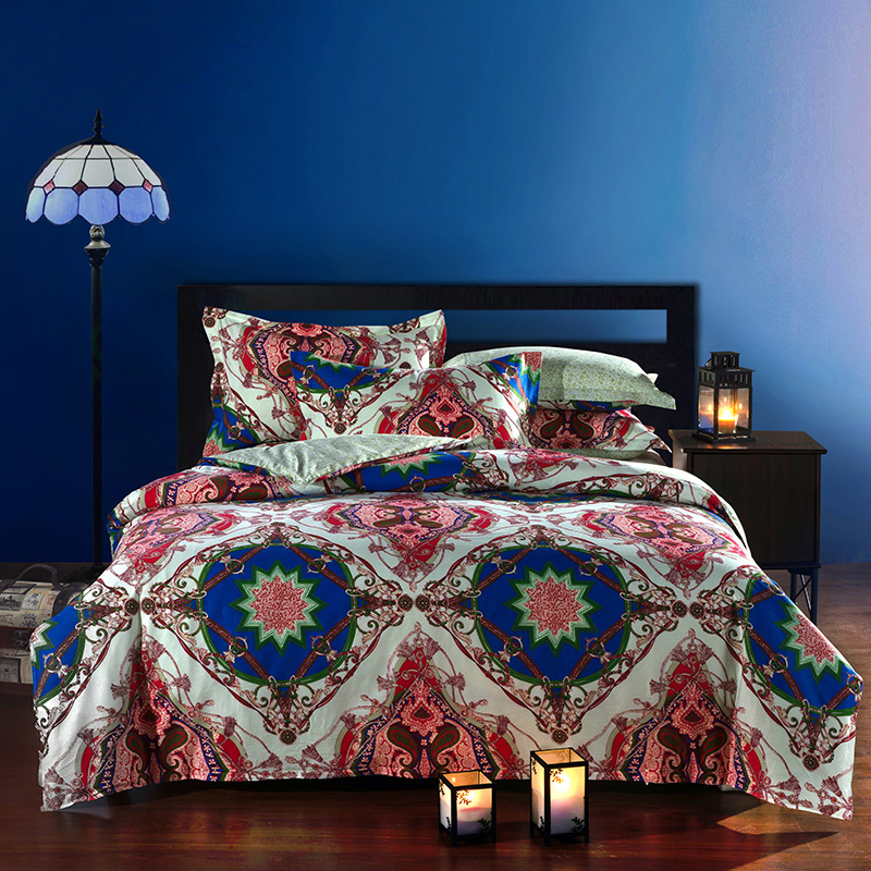 moroccan ethnic style cotton bedding set queen size bedclothes comforter duvet quilt cover. Black Bedroom Furniture Sets. Home Design Ideas