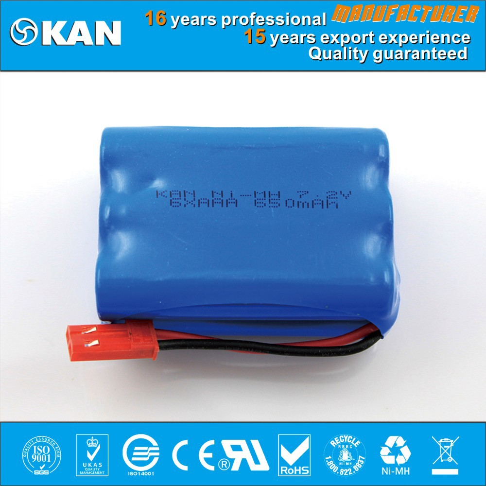 KAN Ni-MH 7.2V 6xaaa 650mah rechargeable batteries packs for robotic vacuum cleaner