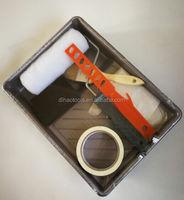 7PCS paint roller brush set,paint tray set