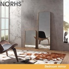 Norhs radian big wall decorative metal framed gold mirrors for bathroom and home decoration
