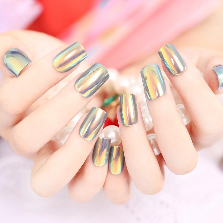 Christmas Nails Long: Yunail Fashion 24pcs Long Fake Nails Multiple Color