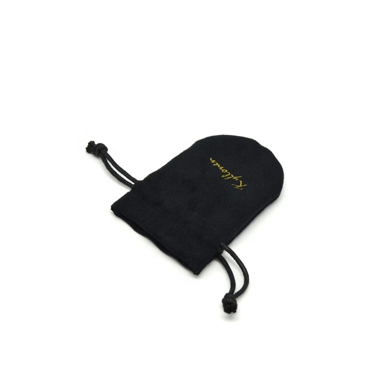 Microfiber suede  drawstring bag printing for gifts and seasons
