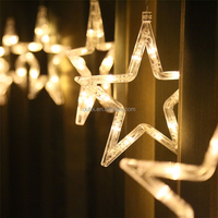 Hotsale Twinkle Star 12 Stars 138 LED Curtain String Lights Window Home Decoration