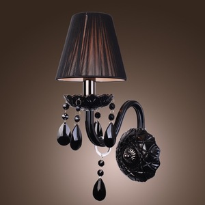 Single Bulb Baccarat black chandelier lamp wall light fixture for indoor decoration
