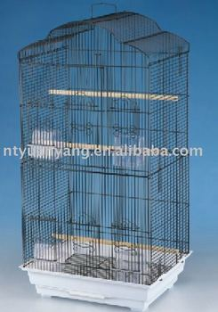 factory foldable pet cage wire steel black bird cage in china