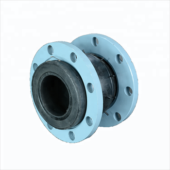 Soft connection single sphere galvanized flange rubber expansion joint/flexible rubber joint from china tianjin