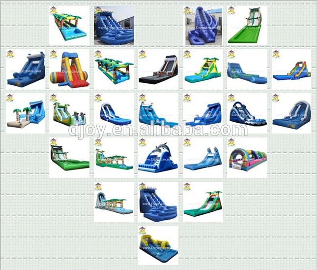 거대한 풍선 물 슬라이드