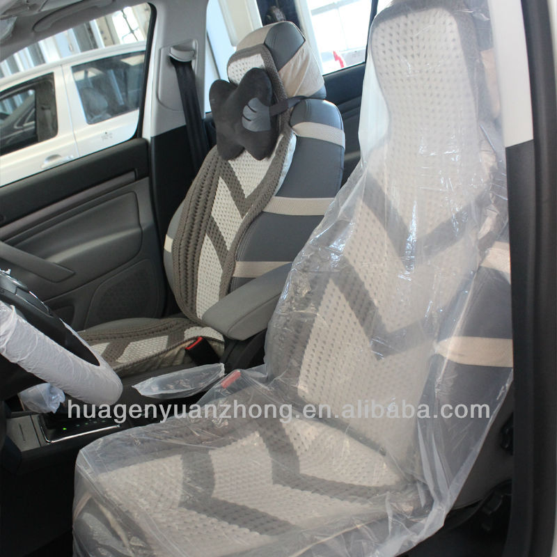 Seat Mate Disposable Car CoversClear Bucket Seats ProtectorAnti Slip Plastic Cover Is Easy To Cleanup