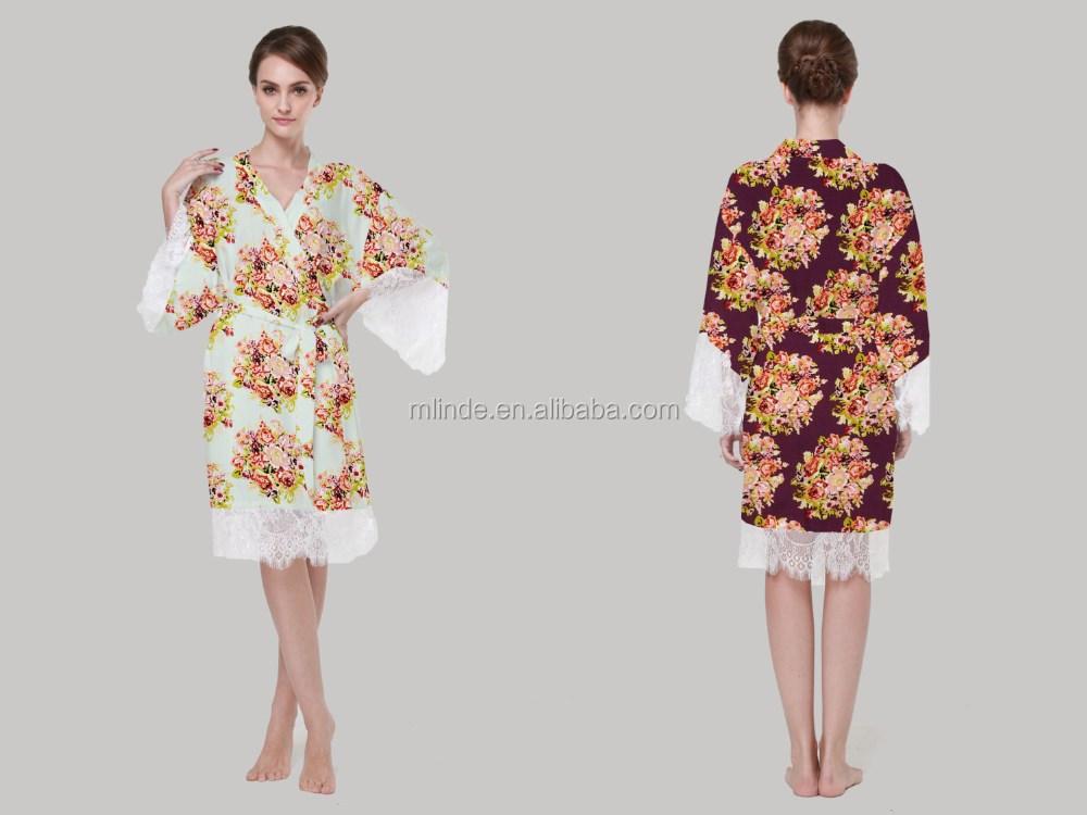 6d455df00 Lussuoso Pizzo Floreale Robe Lingerie Romantica Cerimonia Nuziale Robe  Pizzo Bianco Da Sposa Sexy Robe Vestaglia