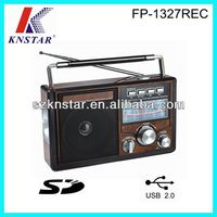 MP3 FM/AM/SW1-2 radio with AUX IN/SD/USB jack