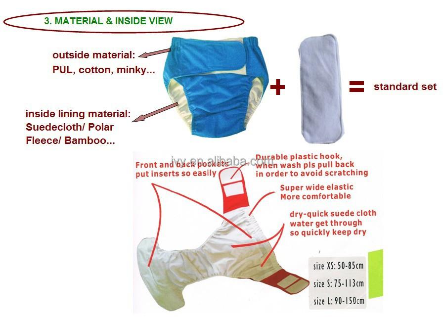 China Washable Adult Cloth Diaper Buy Washable Adult