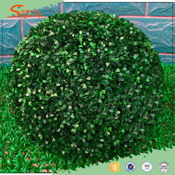 2015 china wholesale evergreen decoration artificial grass ball fake boxwood topiary grass artificial greenery - Christmas Greenery Wholesale