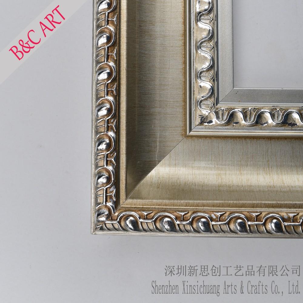 Silver Photo Frame Baroque Mirror Frames For Wall Art