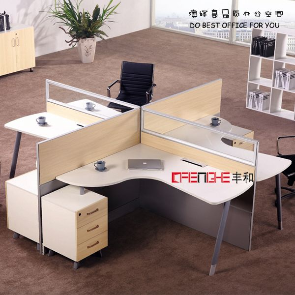 Used Office Furniture Modular Office With Glass Partition CH-2501