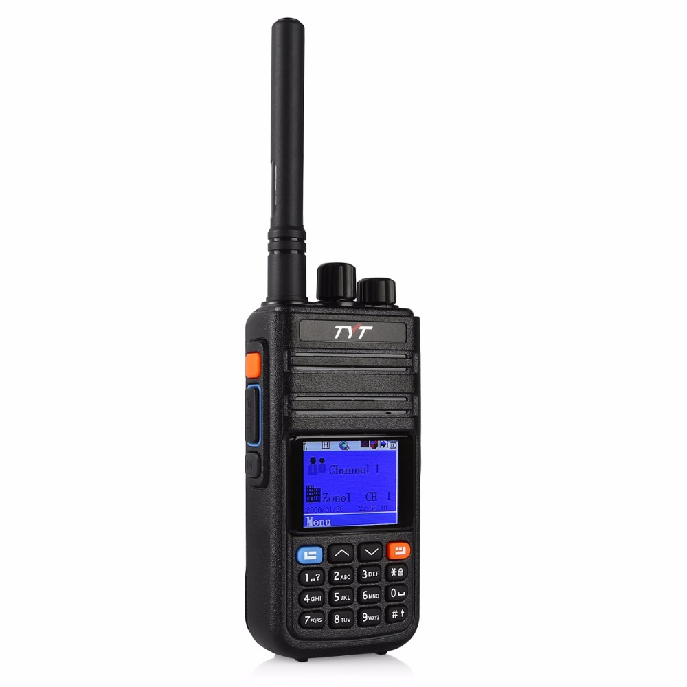 TYT Tytera MD-380G GPS IP67 UHF 400-480MHz DMR Digital Radio Walkie Talkie Ham Transceiver with md380 USB Programming Cable CD