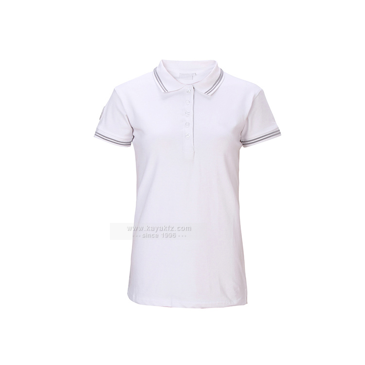 Kayak wholesale short sleeve color combination collar custom design womens golf polo shirts