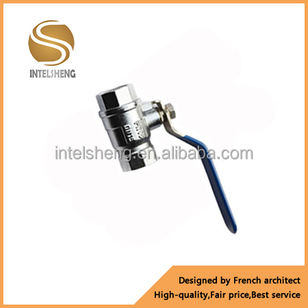 angle type chrome plated long lever handle copper brass water ball valve