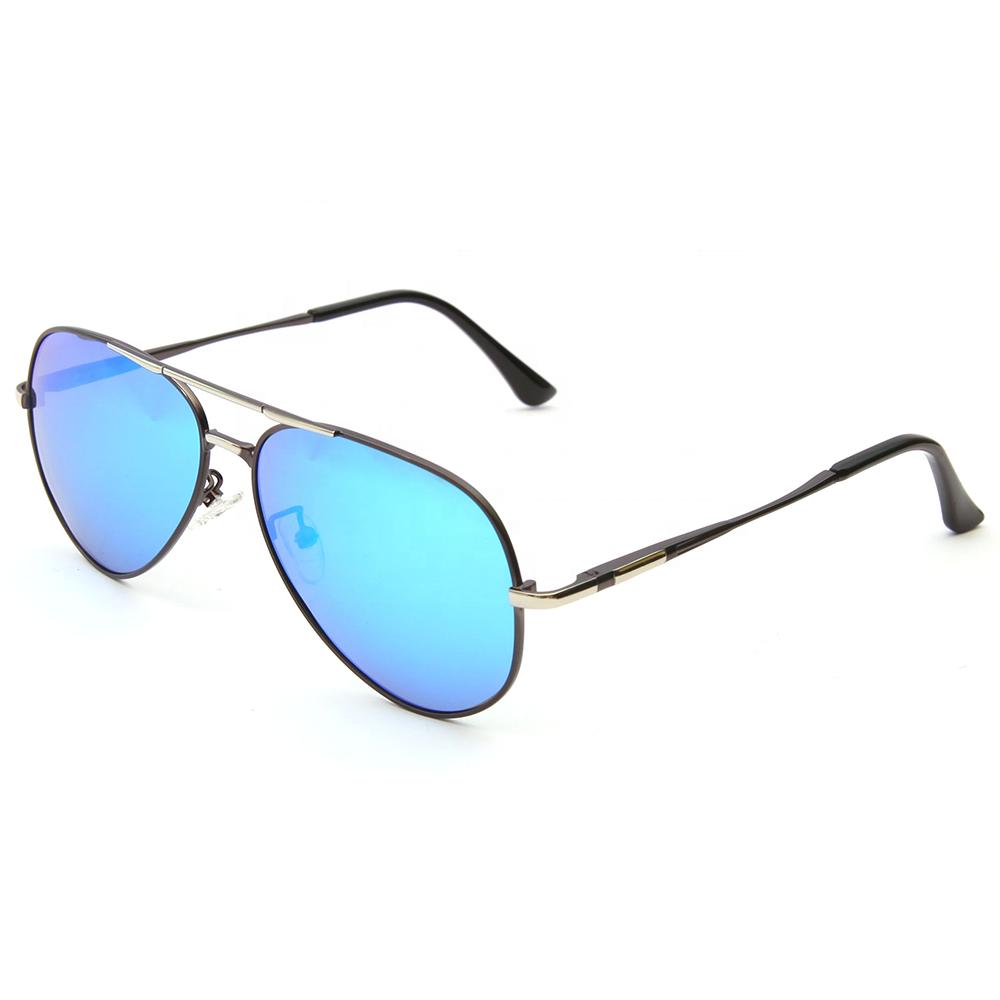 29d2c1d8ff Marcas japonesas diseño de borde completo de Metal adornos polarizadas azul  lente espejo gafas de sol
