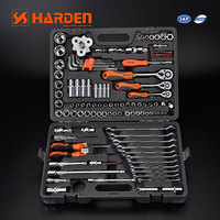 "Harden 120+2PCS 1/2""& 3/8"" &1/4"" Professional Chrome Vanadium Car Repairing DRY.Socket Auto Hand Tool Set"