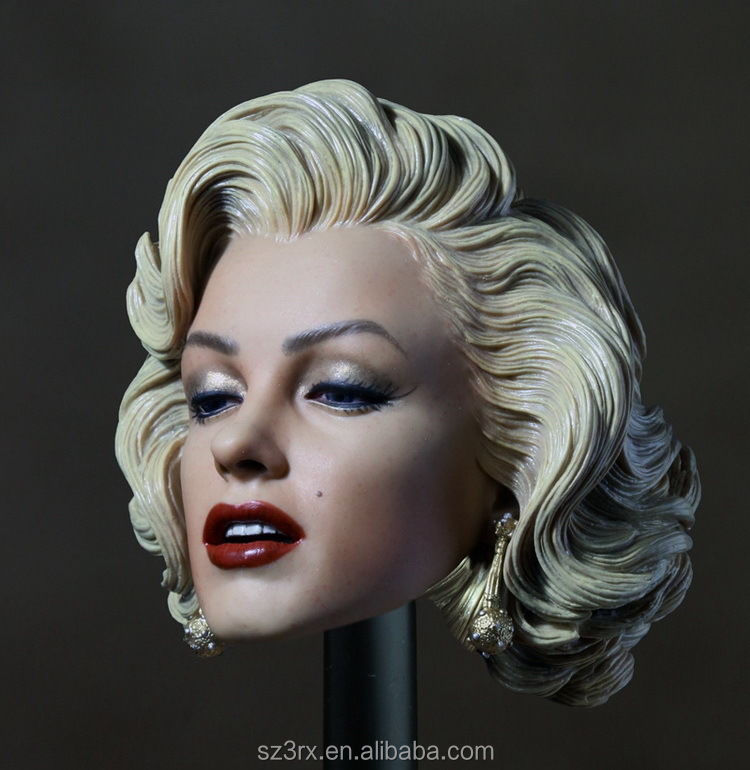 Free Ship Custom Marilyn Monroe 1//6 Head Sculpt for Hot Toys Phicen Female Body