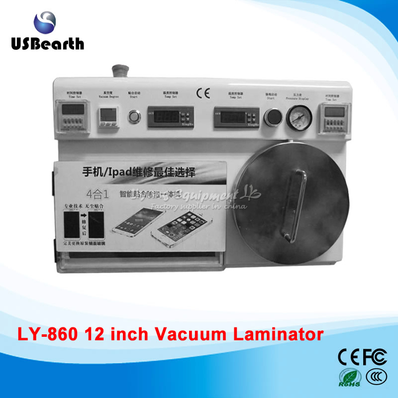 OCA laminating machine LY 860 4 in 1 with built-in vacuum pump defoam machine,for under 14 inch screens,need air compressor