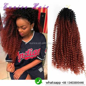Synthetic Crochet Braids Kinky Twist Braiding Hair 16inch Ombre 1b