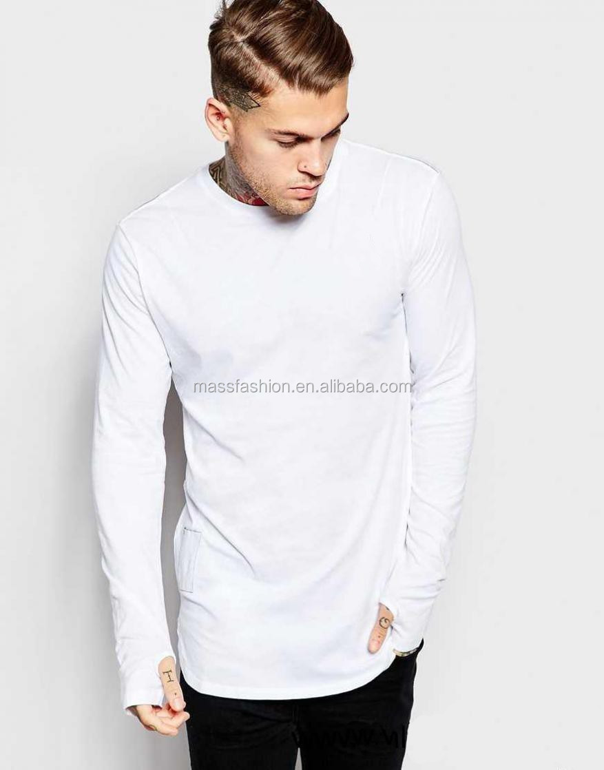 White Color Long Sleeve Stylish Shirts For Men Skin Tight Long ...