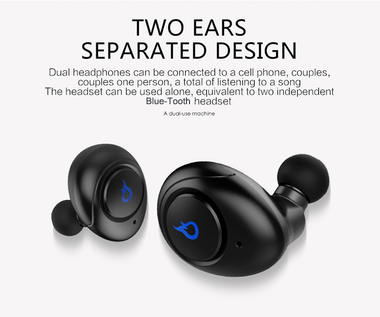 Wireless Headphones charging bin to ear mini wireless private mode earbuds Blue tooth headset for iphone9