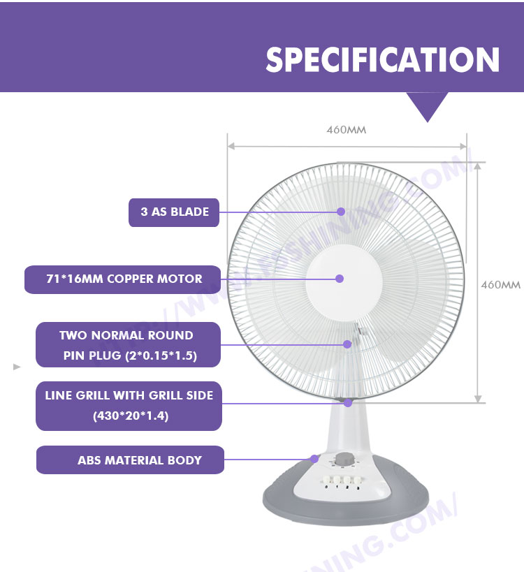 Electrical Liances Low Consumption Price Electric Table Fan