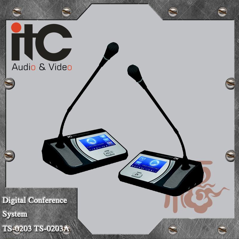 ITC TS-0200 Series Having Check In Function Meeting Table Digital Conference Table Microphone