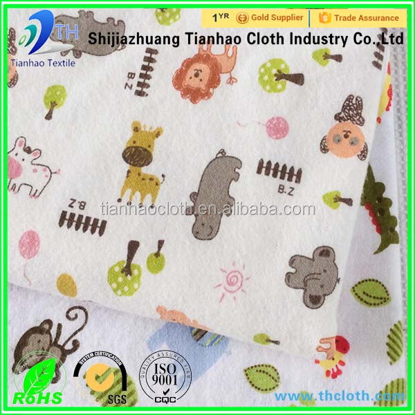 hot products textile stock 100 cotton materials baby flannel fabric