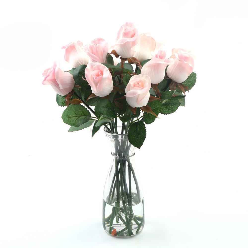 Cheap handmade fabric flower bouquet find handmade fabric flower get quotations decora a dozen handmade pu artificial pink rose flower bouquet for wedding bouquetwedding photography izmirmasajfo