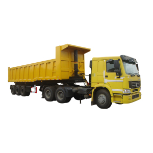 Tri-axles 40 cubic meter farm tipper dump trailer for sale