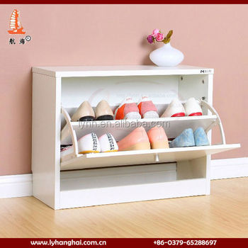 6 Pairs White High Gloss Automatic Shoe Rack Luxury Shoe Cabinet Part 35