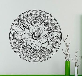 Ya800 Lotus Flower Ornament Wall Decal Mandala Vinyl Sticker Indian