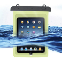 De Amazon Venta caliente Tablet bolso impermeable de 10 pulgadas para ipad impermeable pvc bolsa impermeable